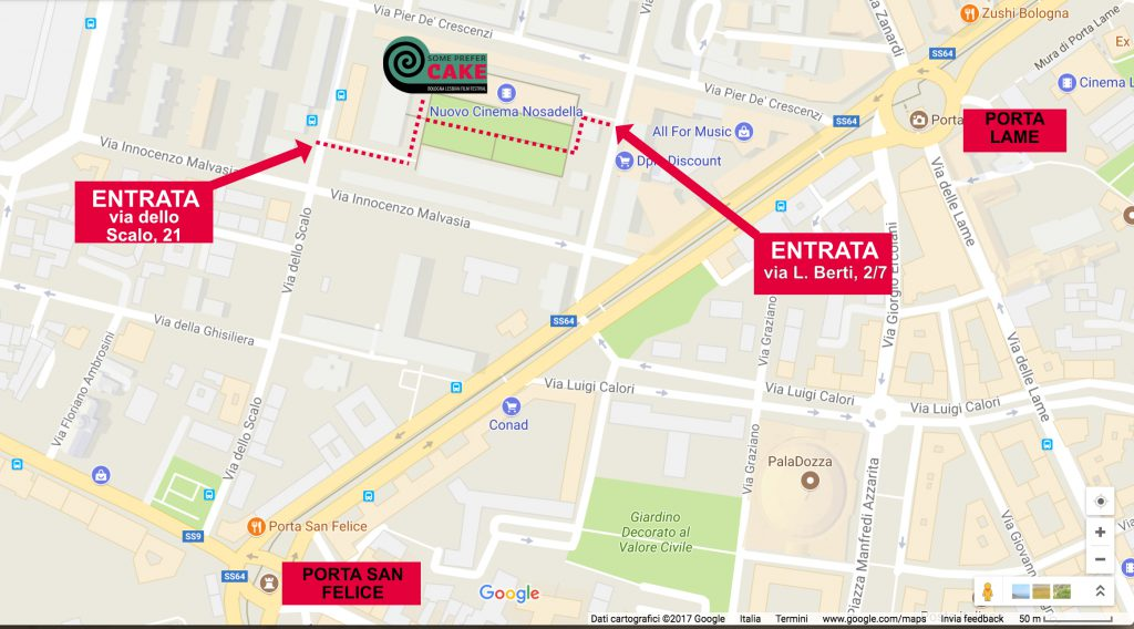 mappa entrata cinema
